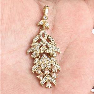 Sultan Ottoman Leaf Topaz Silver Pendant